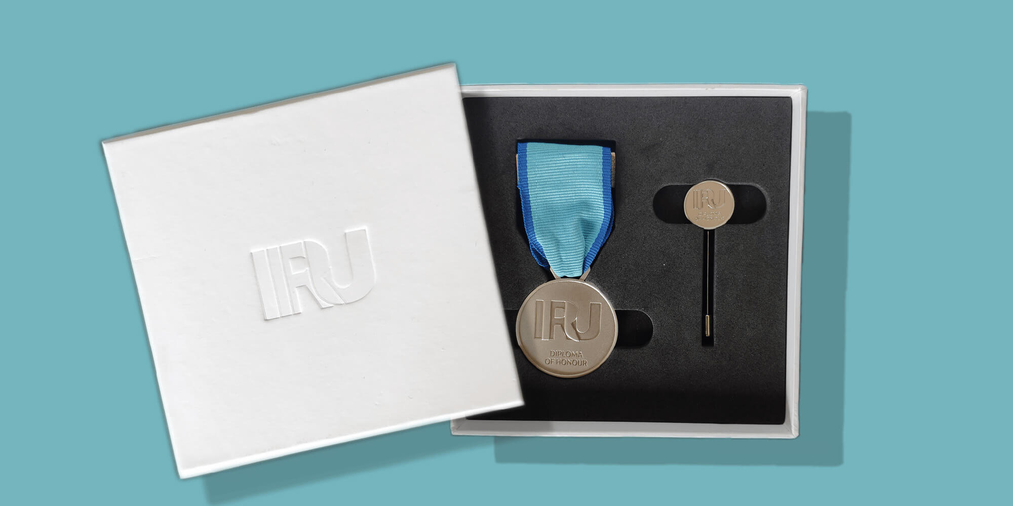 Boîte personnalisée avec médaille
